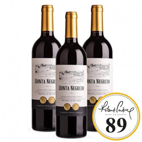 Quinta Negredo Coto Redondo vino tinto caja 3 botellas 75 cl.