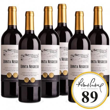 Quinta Negredo Coto Redondo vino tinto caja 6 botellas 75 cl.